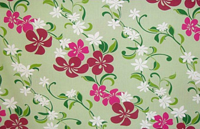 Hibiscus & Tiare Flowers - Mint