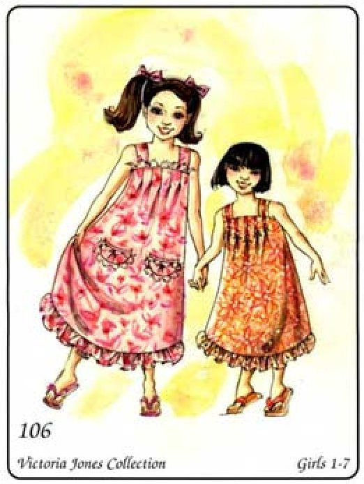 Girls' Pullover MuuMuu Pattern