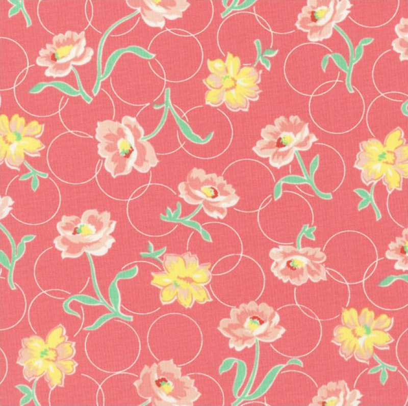 Momma's Apron Strings (Circles & Flowers) - Pink