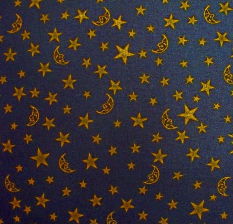 Witching Hour (Stars & Moons) - Navy / Orange