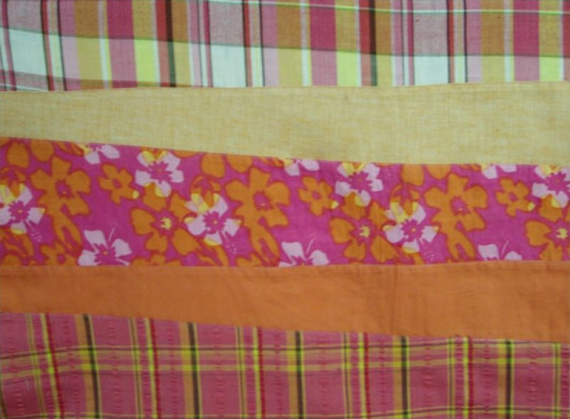 Pre-sewn Fabric (Floral / Plaid / Solid Orange)