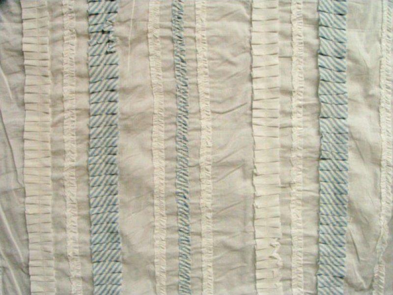Pre-sewn Fabric (White / Lt Blue Stripe)