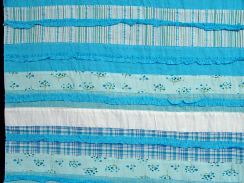 Pre-sewn Fabric (Floral / Plaid / Stripe) - Blue