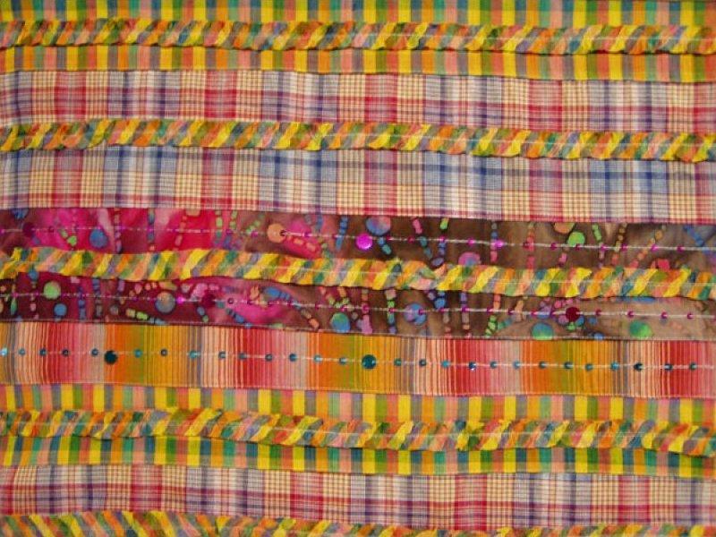 Pre-sewn Fabric (Batik / Plaid / Sequins) - Multi-Color