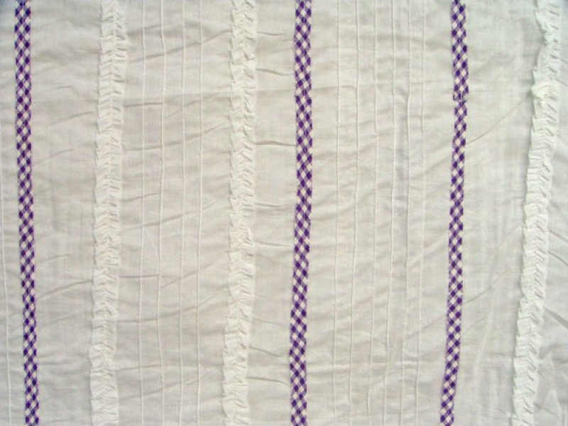 Pre-sewn Fabric (White / Purple Gingham)