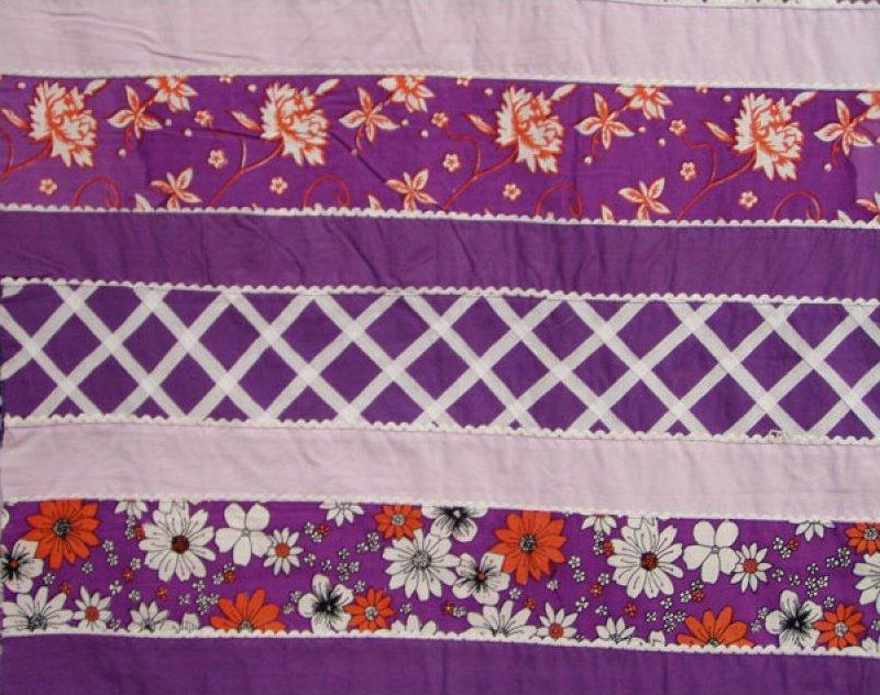 Pre-sewn Fabric (Floral / Lattice Work) - Purple
