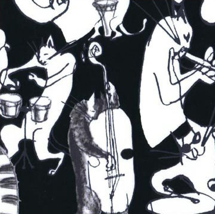 Cool Cats - White on Black