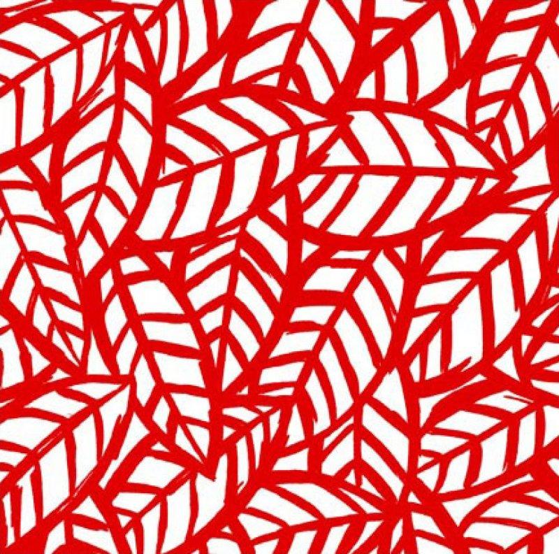 Sketchbook Leaf Print - Red