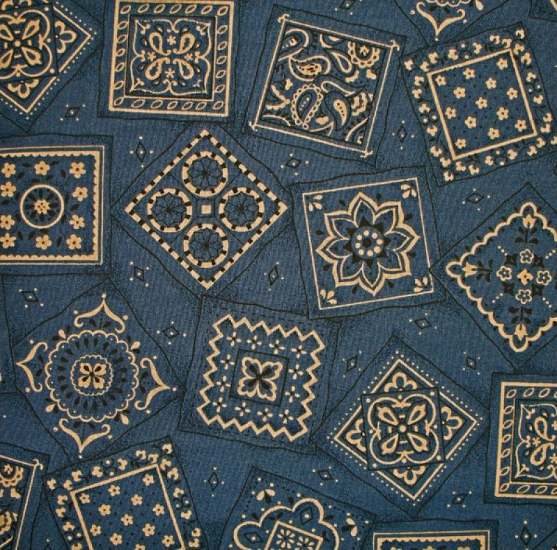 Bandana Print - Windsor Blue
