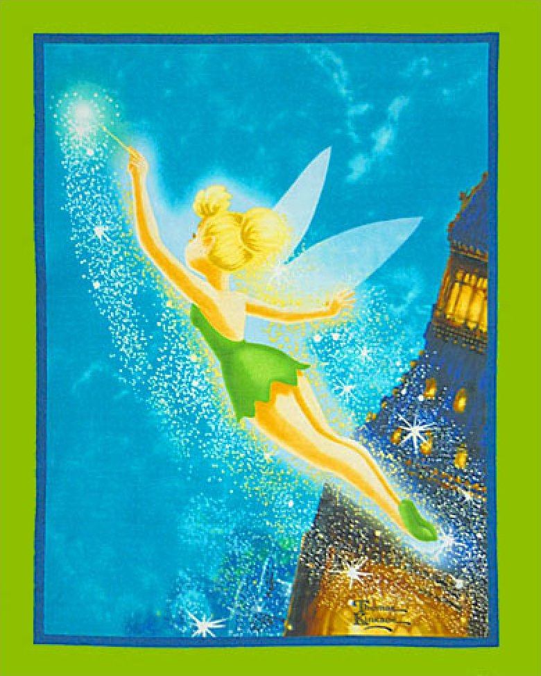 Tinkerbell Fleece Panel