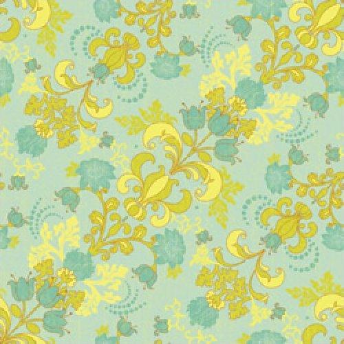 Gabrielle - Diagonal Floral (Lt.Teal)