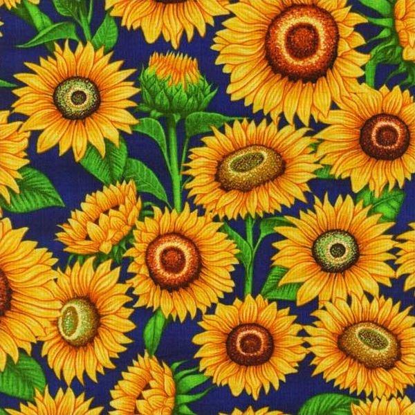 Mrs Greenthumbs - Sunflowers (Royal Blue)