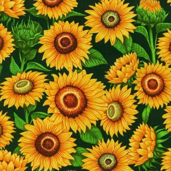 Mrs Greenthumbs - Sunflowers (Dark Green)