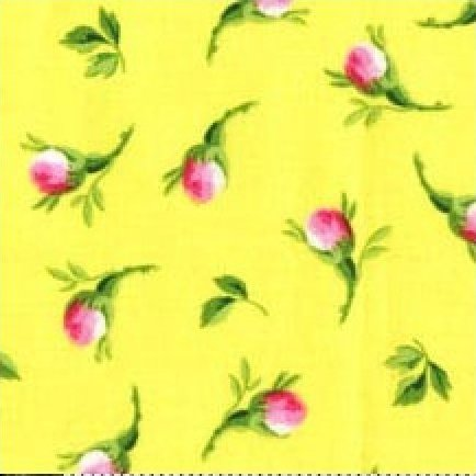 Red Rose Farm - Rosebuds on Yellow