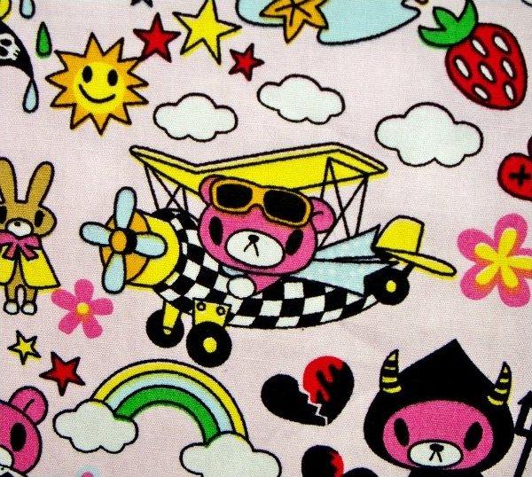 Bears - Asian Character Print - Pink