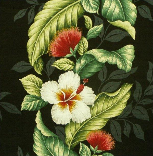 Hibiscus / Lehua Dobby - Black