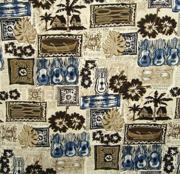 Hawaiian Block Print - Cocoa