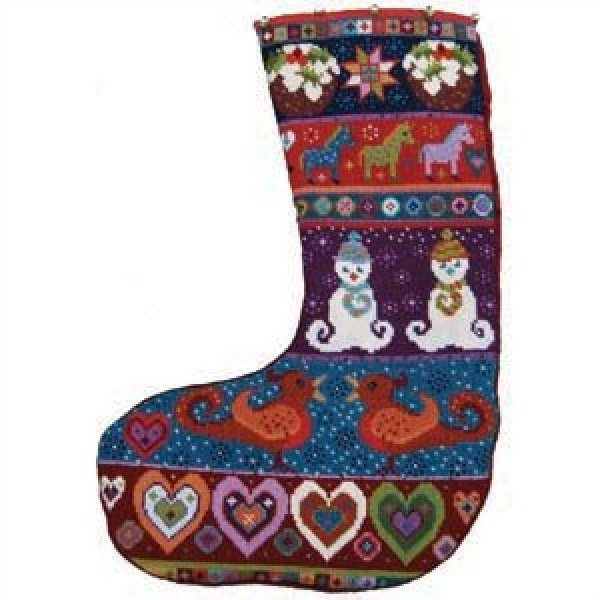 Christmas Stocking Needlepoint Kit Snowman