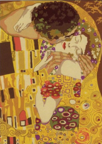 Penelope Needlepoint<BR>Le Baiser (The Kiss) by Klimt