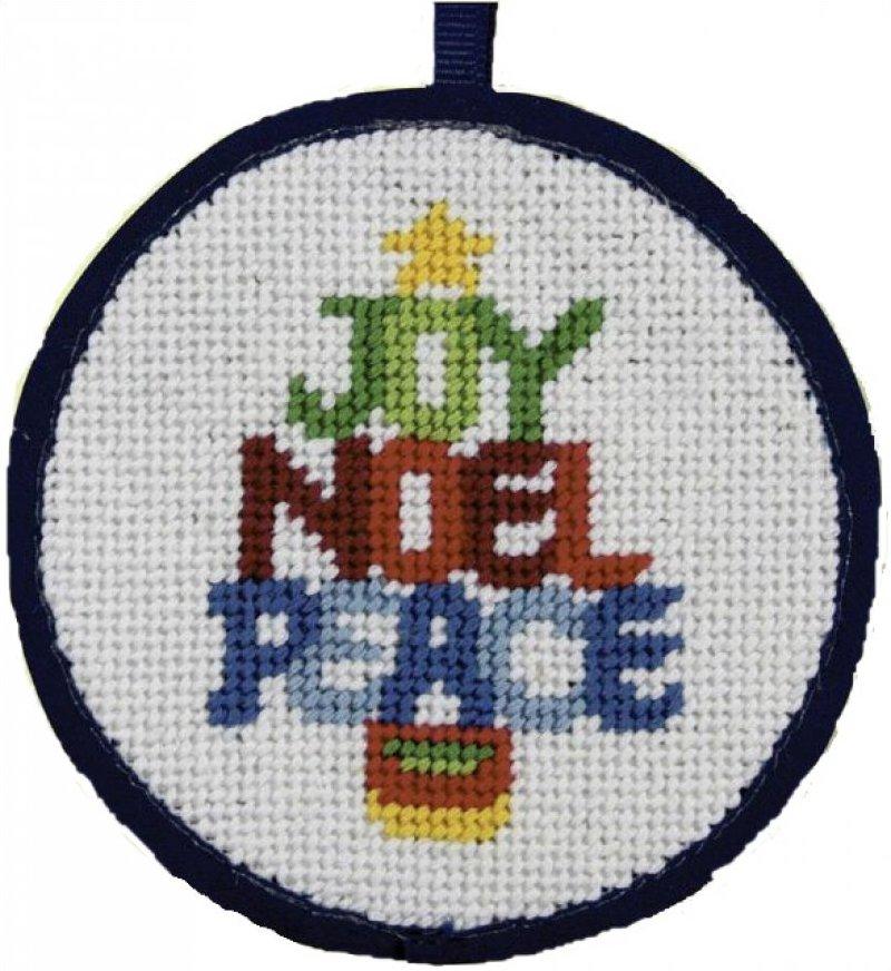 Needlepoint Christmas Ornament Kit Word Tree