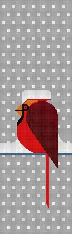 Charley Harper Needlepoint Cool Cardinal