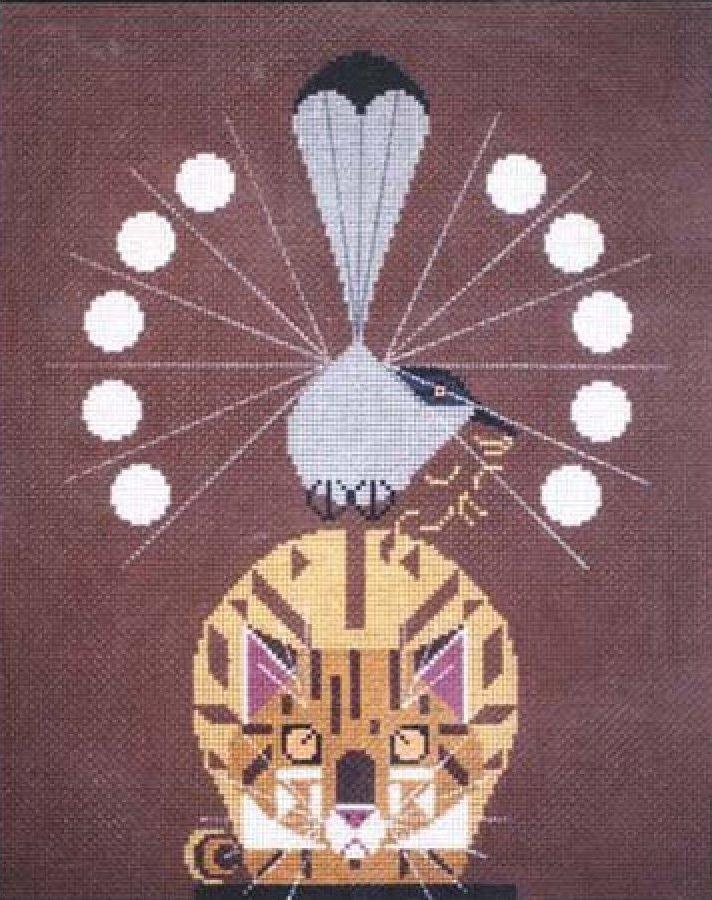 Charley Harper Needlepoint Catnip