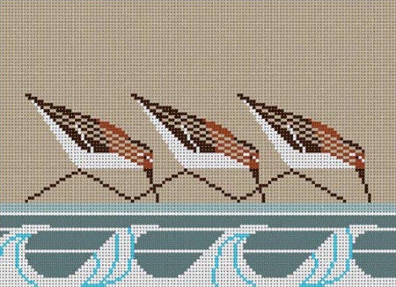 Charley Harper Needlepoint Sanderlings