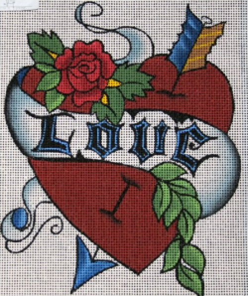 Tattoo Needlepoint Love