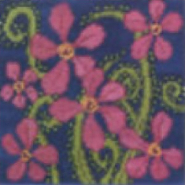 Small Needlepoint Kit Tropical Flowers