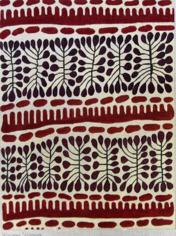 Aboriginal Inspired Needlepoint Wagga Wagga