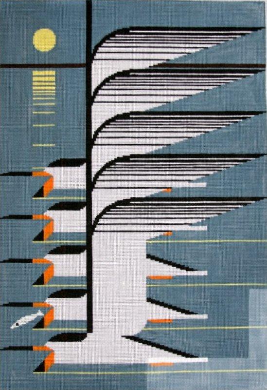 Charley Harper Needlepoint Skimmerscape