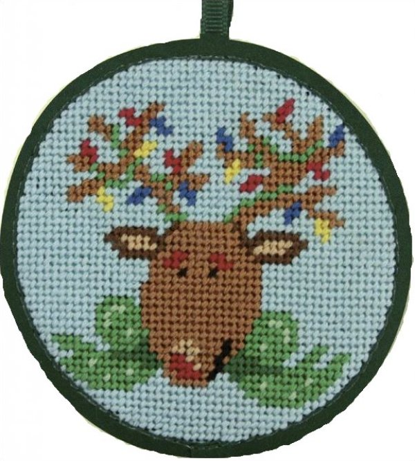 Needlepoint Christmas Ornament Kit Reindeer