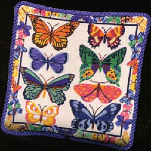 Butterflies Galore Needlepoint Kit