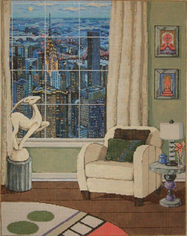 Sandra Gilmore Needlepoint<BR>Manhattan View