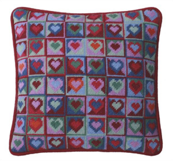 Mosaic Hearts <BR>Needlepoint Kit