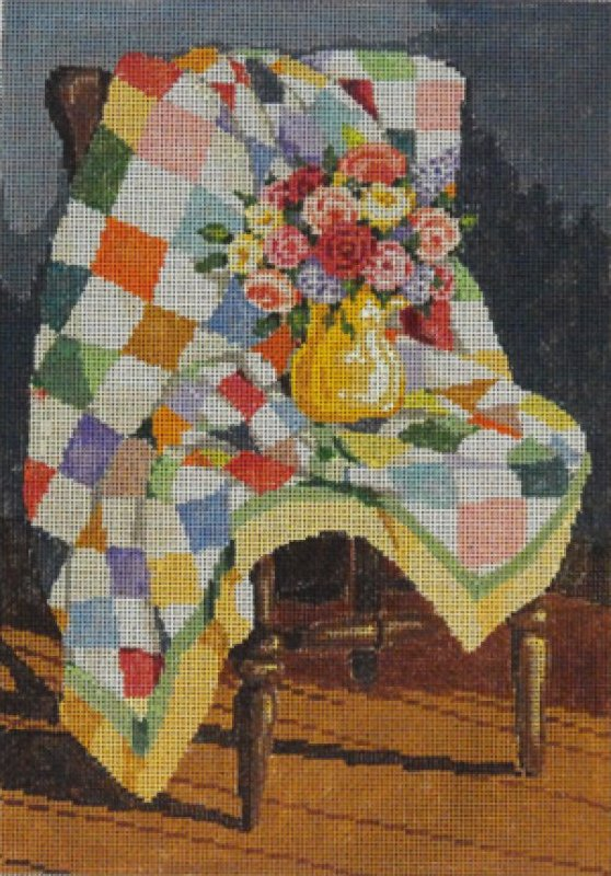 Sandra Gilmore Needlepoint Quilt