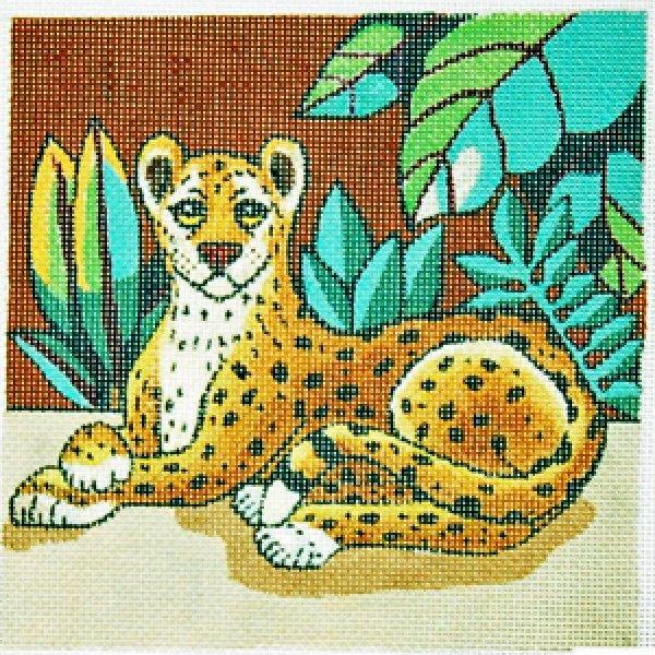 Trubey Needlepoint Leopard