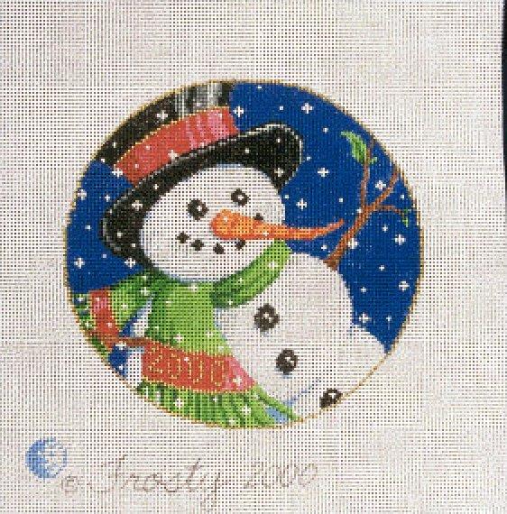Needlepoint Christmas Ornament Frosty