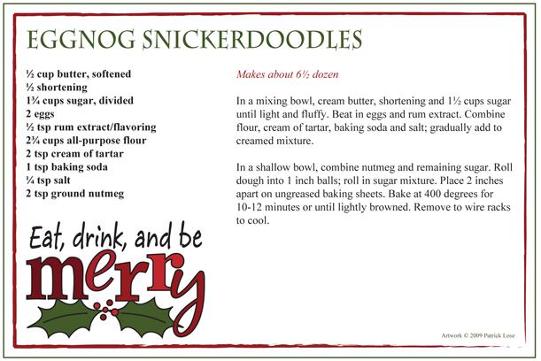 Eggnog Snickerdoodles