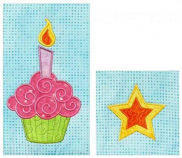 Birthday Cupcake and Star