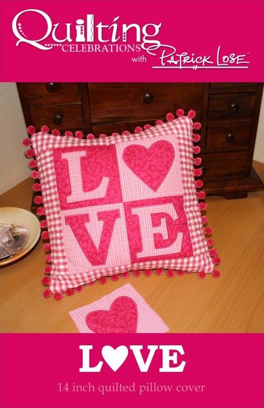 LOVE pillow digital pattern