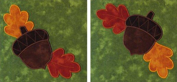 Acorns & Oak Leaves appliques