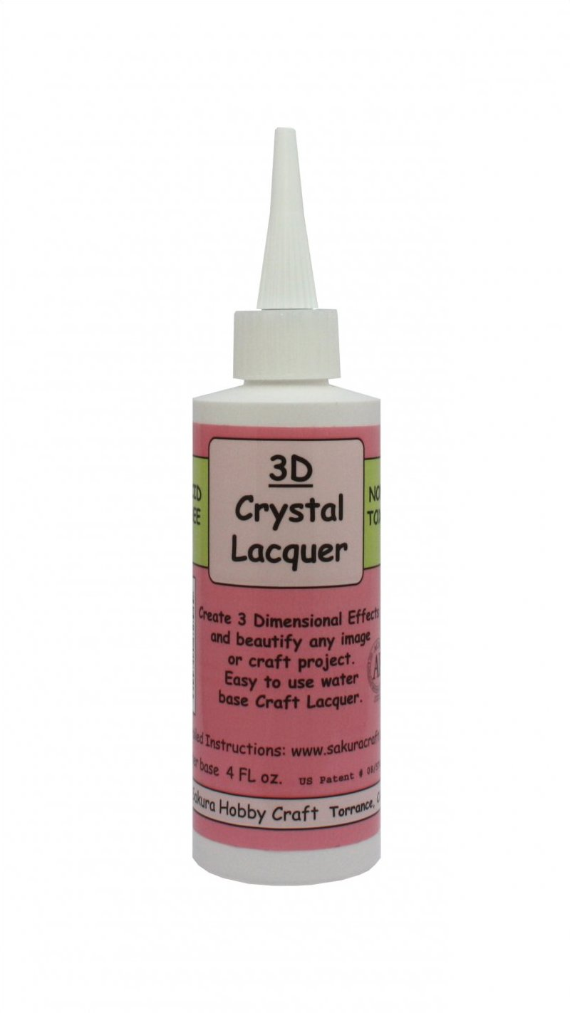01844 <br /> 3D Crystal Lacquer <br /> 4 oz. Refill