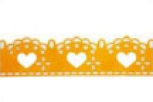 Yellow Lacy Hearts