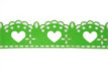 Green Lacy Hearts