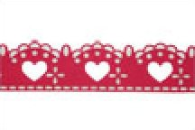 Burgundy Lacy Hearts
