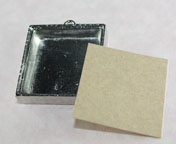 65001 Shadow Box Pendant Square 1-3/8 x 1-3/8