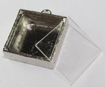 65003 Shadow Box Pendant Square 1 x 1