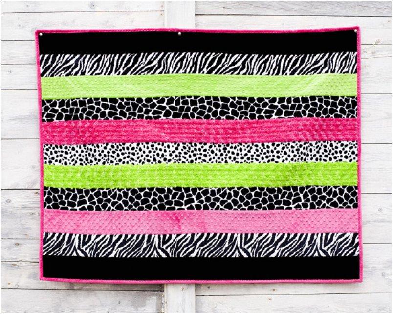 Baby Cuddle Soft Kit Bright Animal 45x60