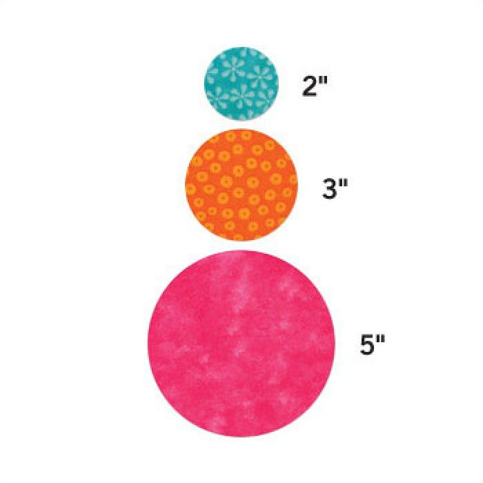 Rental Die Accuquilt Go! Die Circle-2''3'' 5''  55012